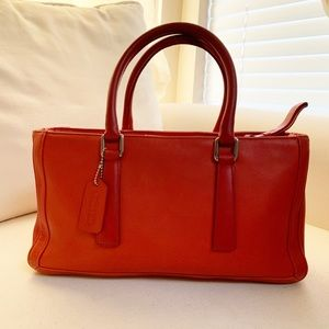 Coach- Rare Vintage Swagger in red leather #9419